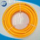 China-Lieferant Belüftung-Hochdruckspray-Schlauch mit gelb-orangeer Farbe