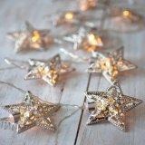 10 de Estrella de Plata de las luces LED de Batería Fairy