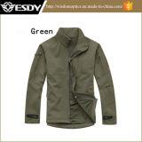 Het groene het Kamperen van de Jacht van de Kleur Waterdichte Jasje Softshell van de Laag