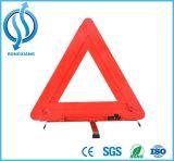 Triangle d'avertissement de ventes de visibilité de sûreté rouge élevée chaude de lueur