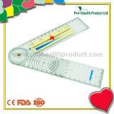 Goniómetro médico plástico con la regla del dolor