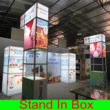 Освещенная контржурным светом DIY портативная многоразовая рекламируя будочка выставки с коробкой СИД светлой