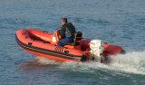 中国Aqualand 14.5feet 4.5mのガラス繊維の堅く膨脹可能なボートか肋骨の救助艇またはモーターボート(RIB440T)