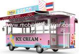 Chariot de nourriture avec la machine de crême glacée à vendre en 2017