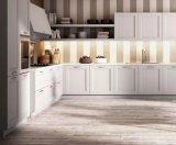 白いシェーカーの中国から直接贅沢なモジュラー食器棚の純木