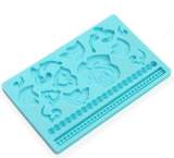 Rosa Eco-Friendly e Leaf Silicone Cake Mould