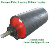 Sistema de colagem vulcanizada a frio: rolos de Atraso da polia de Diamante