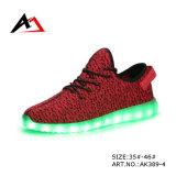 LED Flash Light Shoes Vente en gros Bottes Shining pour Hommes (AK389-1)