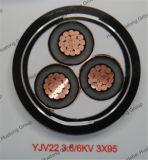 cavo elettrico sotterraneo corazzato del nastro del filo di acciaio dell'isolamento del conduttore XLPE del rame 11kv o dell'alluminio o dell'acciaio