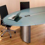中国のベストは塗られた強くされた机のテーブルの上ガラスの工場を曇らした