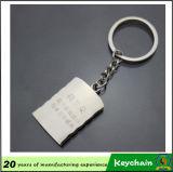 Trousseau de clés blanc bon marché en métal de vente chaude