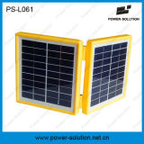 солнечный фонарик 2W с перезаряжаемые батареей 4.5ah для освещения и поручать телефона Moibile