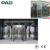 組み立てられた曲げられたガラスドアの正面玄関のドアデザイン