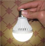 Recarregável LED E27 Luz de emergência, LED 5W Lâmpada de Emergência