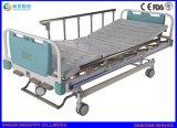 中国の医学の家具手動不安定な3機能調節可能で忍耐強い病院用ベッド