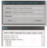 Code Calculator Programmation automatique de clé pour Toyota Lexus