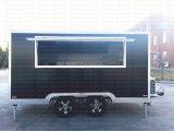 Vente mobile de rue de cabine de nourriture de kiosque de thé de bulle