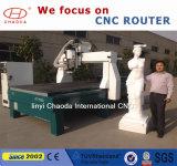 máquina do CNC da estaca da espuma da linha central 3D 4 com o varredor 3D para a estátua grande