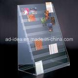 Type de sol de l'acrylique rack statif/ affichage de publicité pour le Magazine, brochure