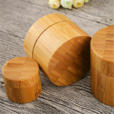 De houten Kruik van het Bamboe van de Container van de Doos Kosmetische met Deksels