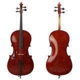 Violoncello all'ingrosso dell'allievo di Solidwood con il caso libero 1/8-4/4 del violoncello