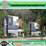 Casa prefabricada de madera solar aislada receptor de papel de dos pisos de la estructura de acero