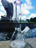 Taça de venda superior com haste tubulação de fumo de vidro do coletor do gelo de 3 Pinch