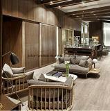 (SD-6005-2T) Sofà di legno del tessuto dell'hotel del ristorante della mobilia moderna del salone con la Tabella