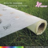Серебристый штамповки Non-Woven цветочный упаковочная бумага