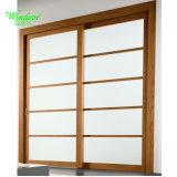 La puerta de aluminio color madera para la venta
