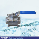 3PCS Forged Steel/A105/Ss316/Ss304/API/Asme/Lever Ball Valve