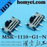 Interrupteur à glissière vertical SMD avec 6 broches (MSK-1110-G4)
