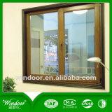De gaz argon Low-E verre recouvertes de bois d'aluminium pour fenêtre Fenêtre Villa de luxe