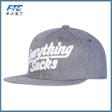 Sombrero de béisbol plano de encargo del bordado del casquillo del Snapback del borde