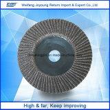 ジルコニアのアルミナのステンレス鋼のための研摩の折り返しディスク