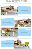 새로운 디자인에 의하여 이용되는 사무용 가구 2 시트 직원 테이블
