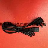 Черный шнур питания Au утверждения SAA с IEC 320 C13