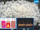 Diseño personalizado del OEM Bolsa de papel bolsas de compras pegamento