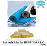Сырье Расплавом чувствительностью к давлению клей Hm Psa для HDPE Tpo водонепроницаемый материал