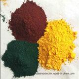 Los pigmentos sintéticos químicos Fe2O3 el 95% de óxido de hierro en rojo amarillo y negro para el bloque pavimentadora de materiales de construcción