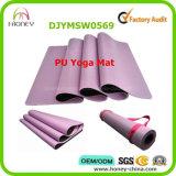 Циновка йоги PU Wih природного каучука кожаный