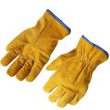 Kuh-aufgeteiltes Leder-Fahrer-Arbeits-Handschuhe für das Fahren