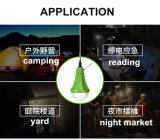 Wandernder kampierender heller nachladbarer Birnen-Lampen-Solarverkauf