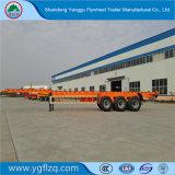 Customed 강선전도 자물쇠를 가진 2/3대의 반 차축 40FT 20FT 콘테이너 수송 포좌 해골 트럭 트레일러
