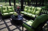 快適な雑談のソファーの一定の屋外の家具の部門別のソファーのLoveseat 4PCSの会話型6人の座席の庭の家具の雑談のグループ