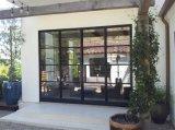 手は家のための金属の外部の鋼鉄フランスのBi-Foldドアを制作した