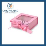 Caixa de cartão cor-de-rosa com indicador do PVC (CMG-PGB-024)