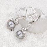 Bisutería de alta calidad Rodio Crystal Black Pearl joyas Set