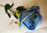 발렌타인 데이 동안 인공 꽃 단 하나 로즈