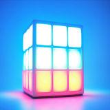 Nieuwe Producten 4 van de Prijs van de fabriek van de LEIDENE van de Oppervlakte Spreker Bluetooth van de Sport van de Spreker van Bluetooth Kubus van Lichte Rubik de Mini Draadloze